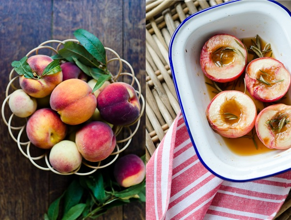 Peaches And Rosemary Roasted Peach | At Down Under | Viviane Perenyi